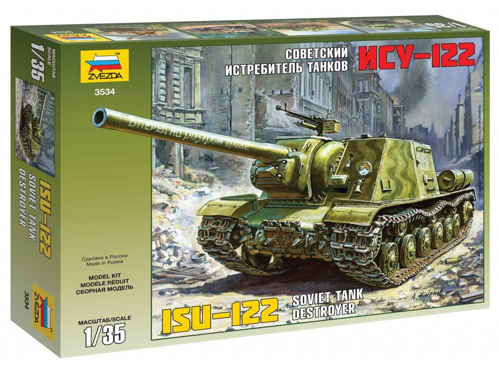 233 model kit military zvezda 3534 isu 122 1 35