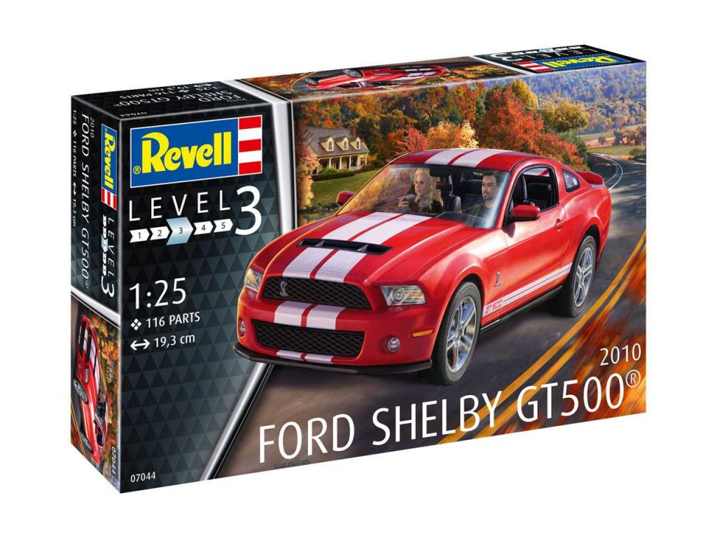 2339 plastovy model auto revell 07044 2010 ford shelby gt 500 1 25