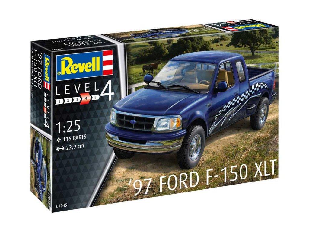 2348 plastovy model auto revell 07045 97 ford f 150 xlt 1 25