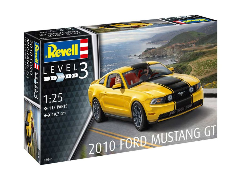 2366 plastovy model auto revell 07046 2010 ford mustang gt 1 25