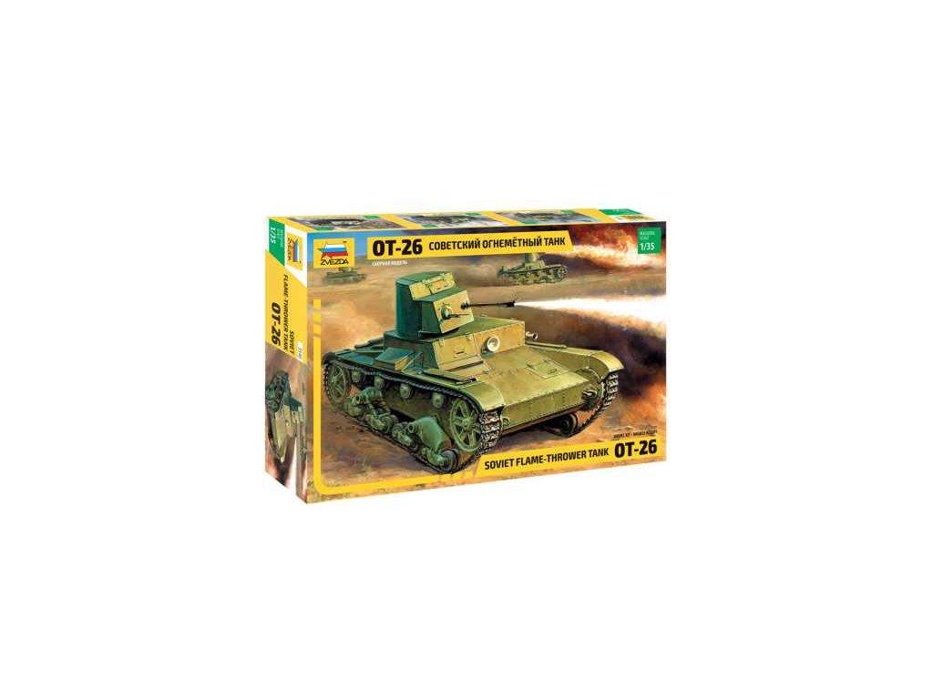 239 model kit tank zvezda 3540 t 26 flamethrower re release 1 35