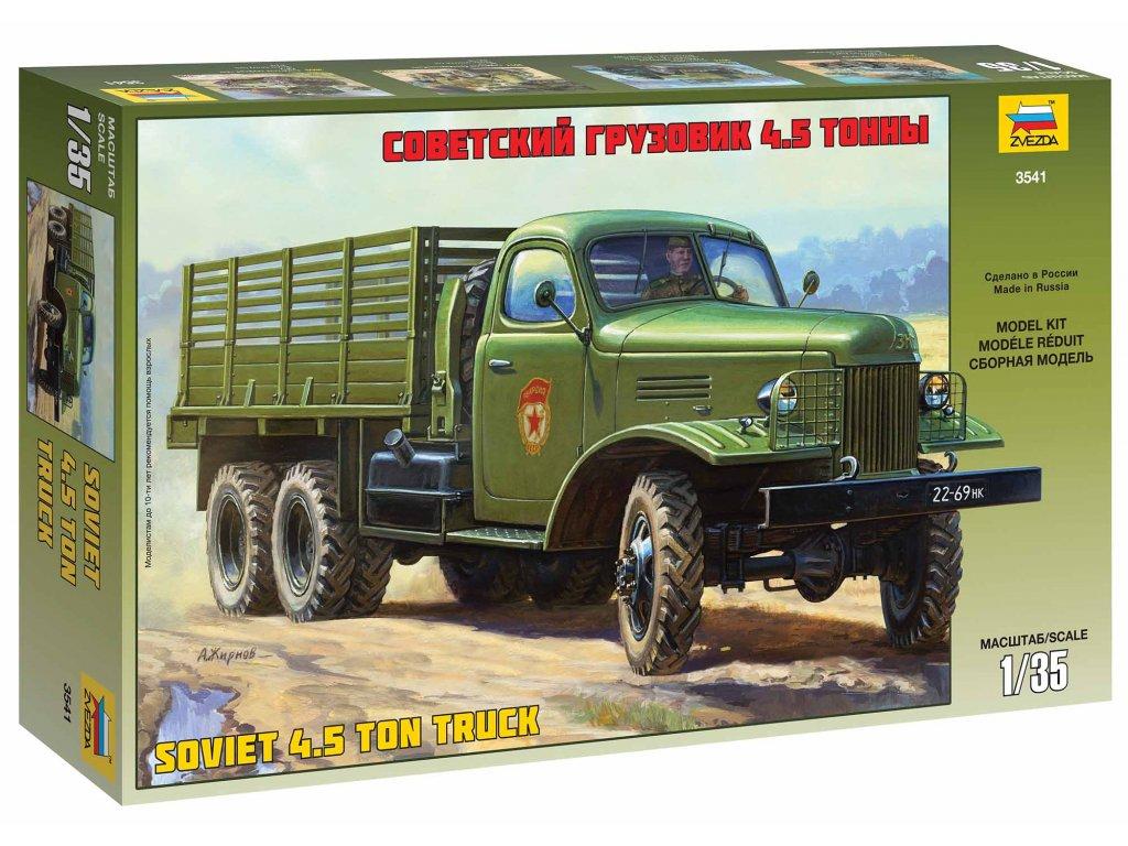 242 model kit military zvezda 3541 zis 151 soviet truck 1 35