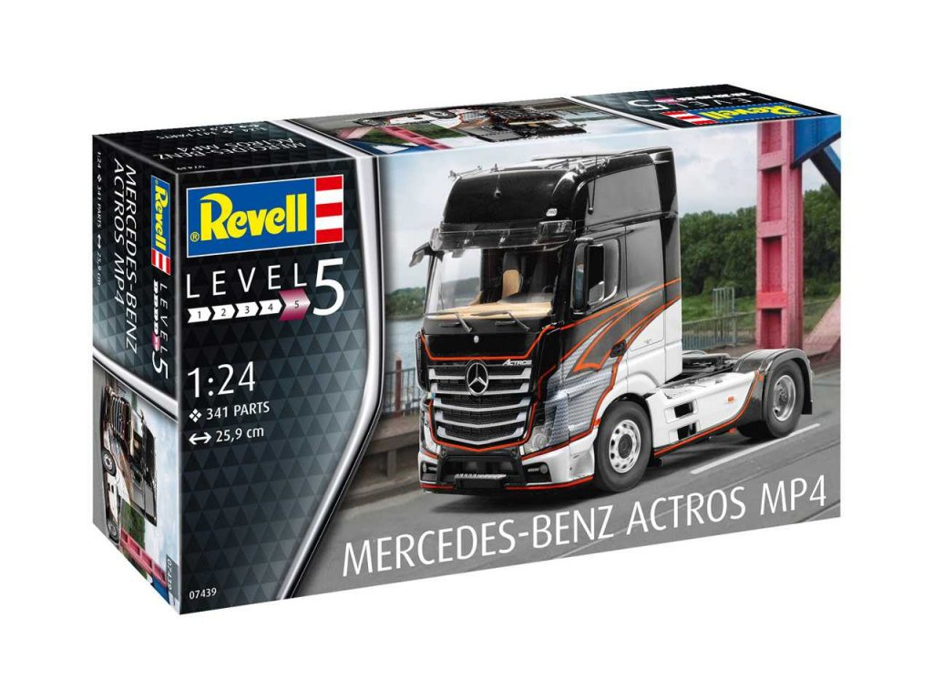 2459 plastovy model kamion revell 07439 mercedes benz actros mp4 1 24