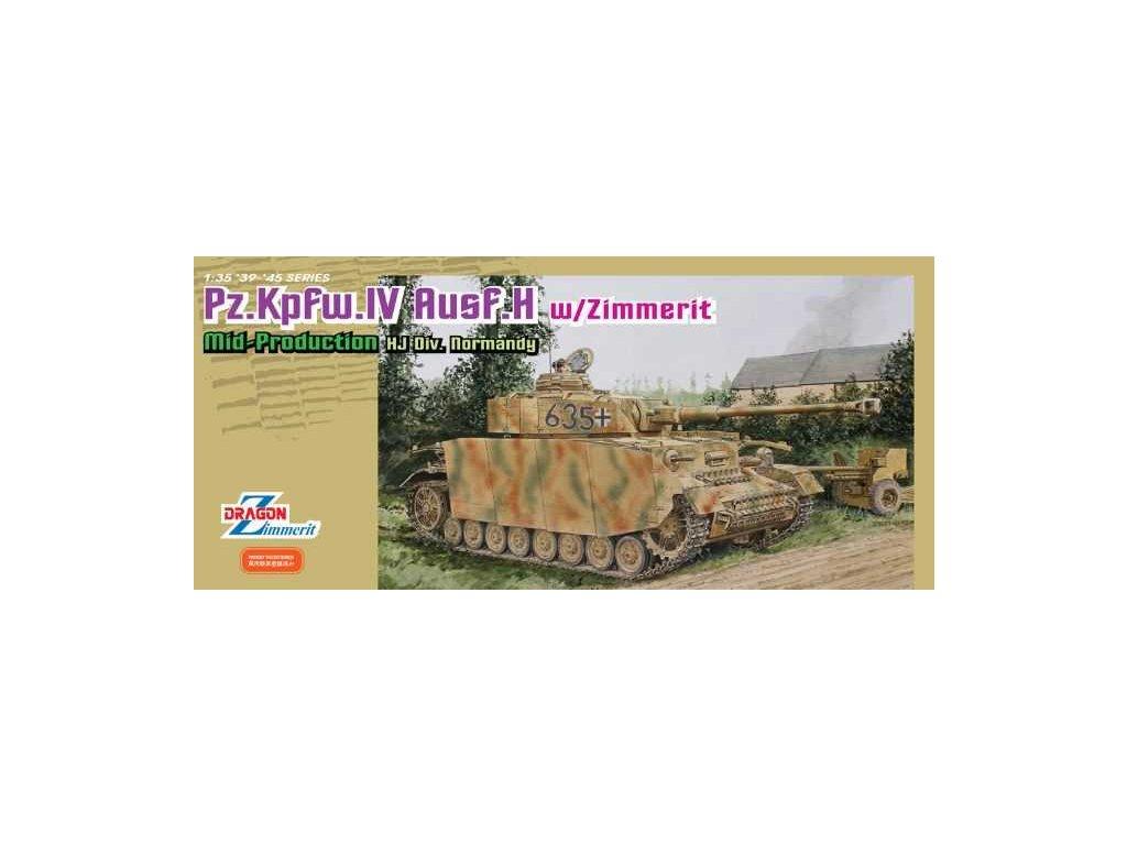 2486 model kit tank dragon 6611 pz kpfw iv ausf h mid production w zimmerit 1 35