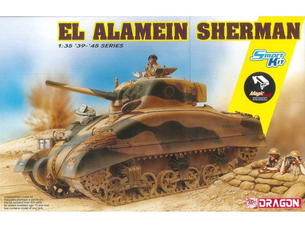2489 model kit tank dragon 6617 el alamein sherman w magic tracks sm kit 1 35
