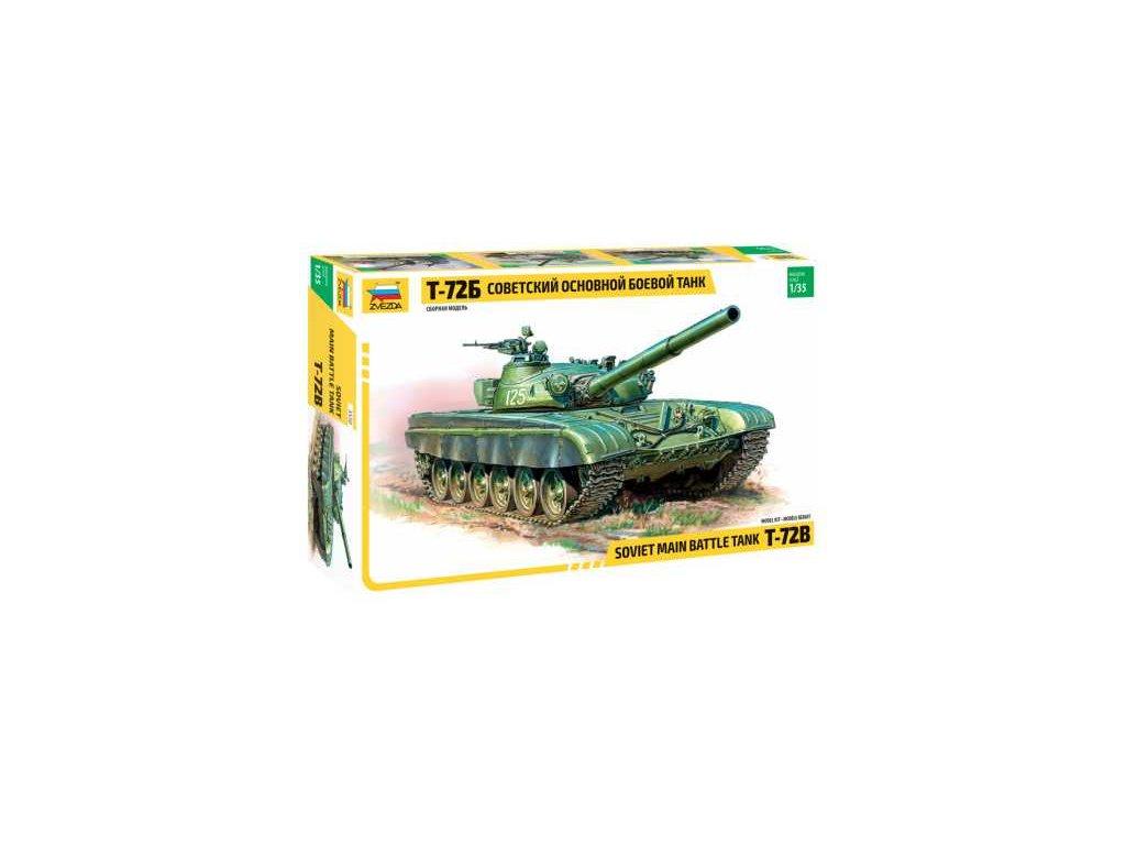 254 model kit tank zvezda 3550 t 72b soviet mbt re release 1 35