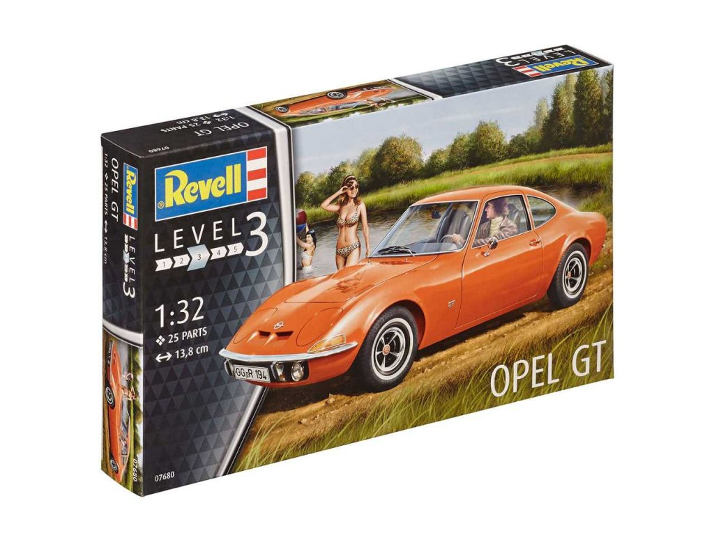 2558 plastovy model auto revell 07680 opel gt 1 32