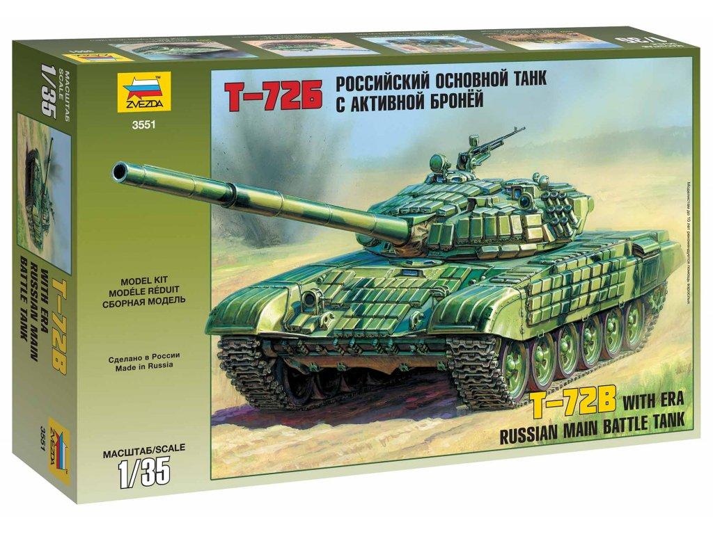 257 model kit tank zvezda 3551 t 72b era 1 35