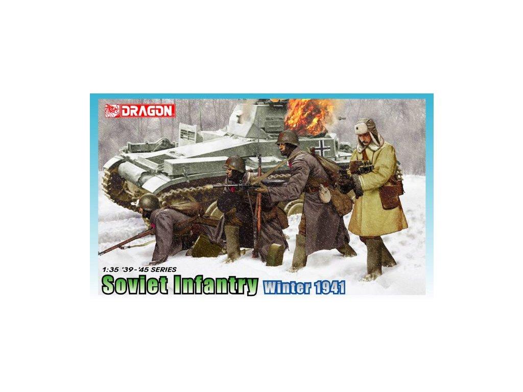 2570 model kit figurky dragon 6744 soviet infantry winter 1941 1 35