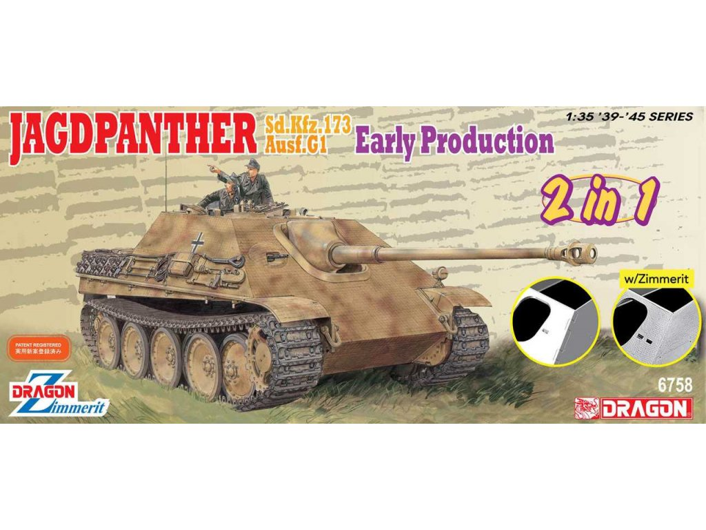 2579 model kit tank dragon 6758 jagdpanther early production 2 in 1 1 35