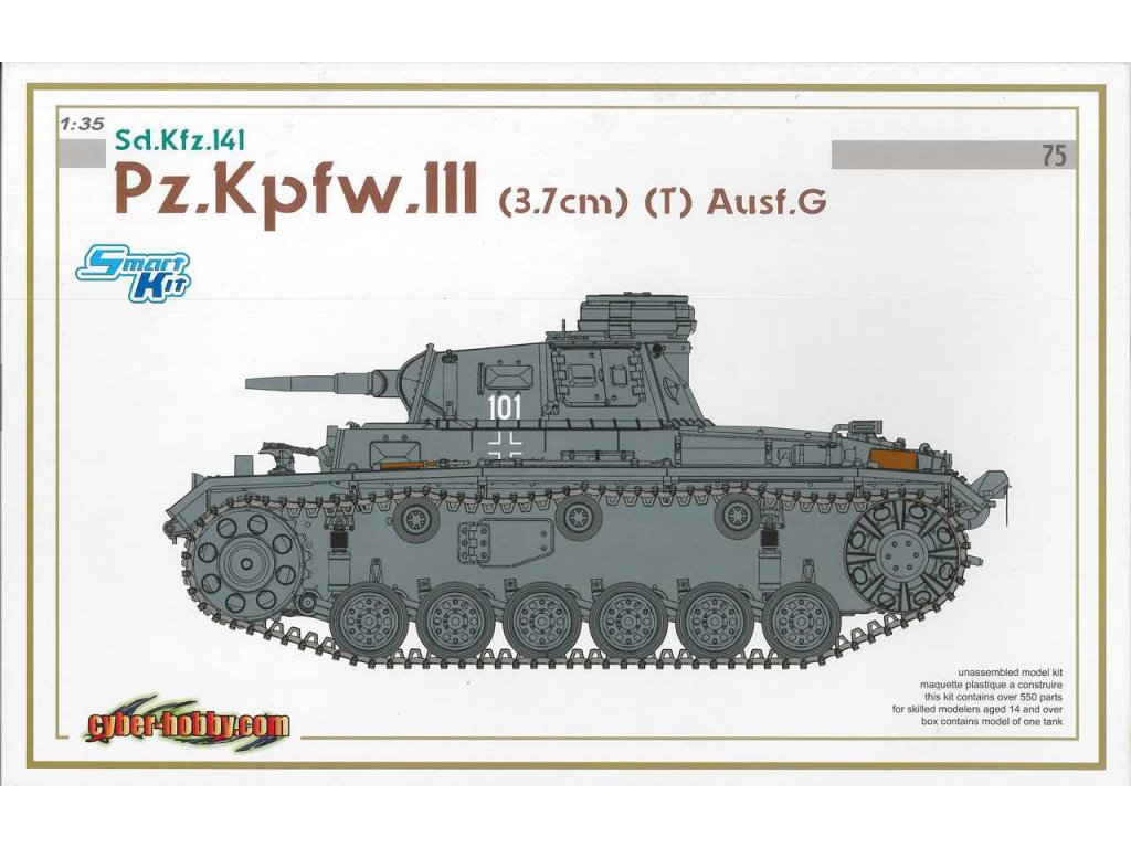 2588 model kit tank dragon 6765 pz kpfw iii 3 7cm t ausf g smart kit 1 35