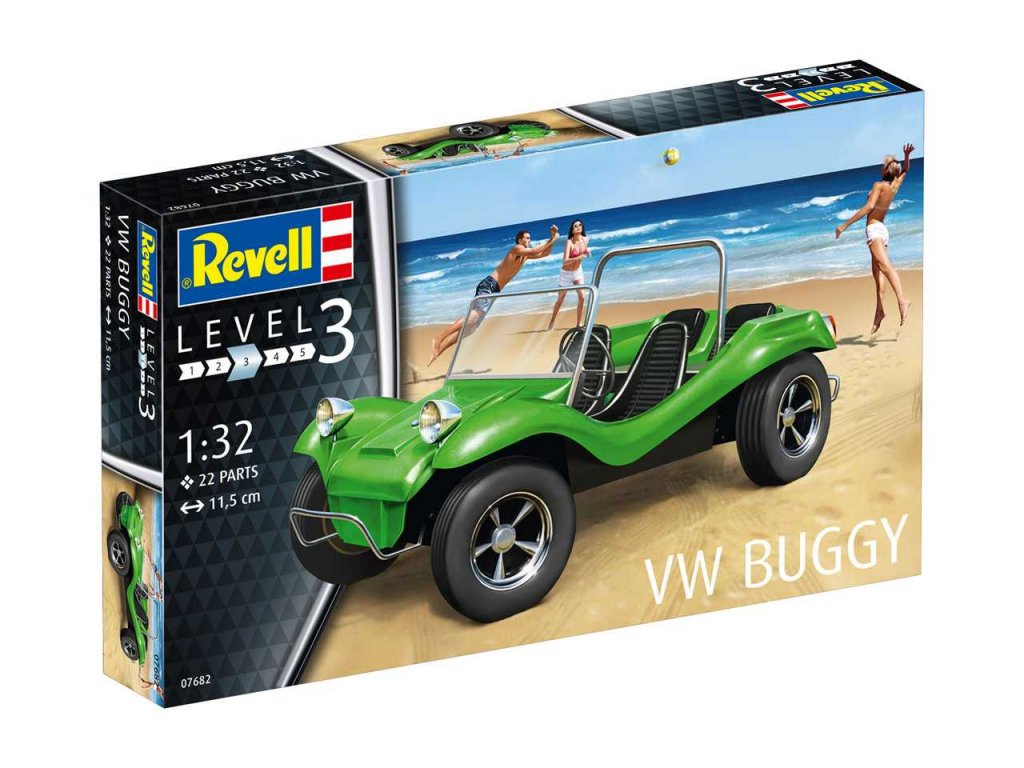 2594 plastovy model auto revell 07682 vw buggy 1 32