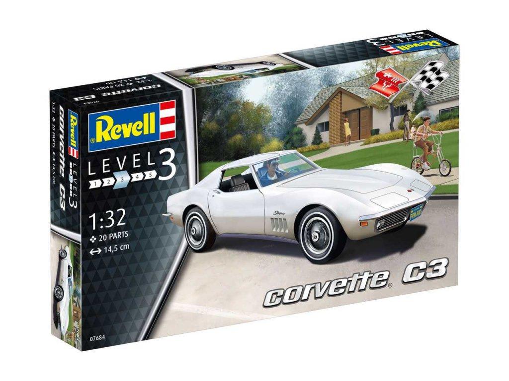 2609 plastovy model auto revell 07684 corvette c3 1 32
