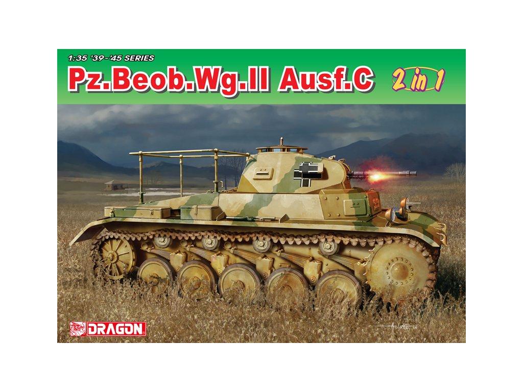 2612 model kit tank dragon 6812 pz beob wg ii ausf a c 1 35