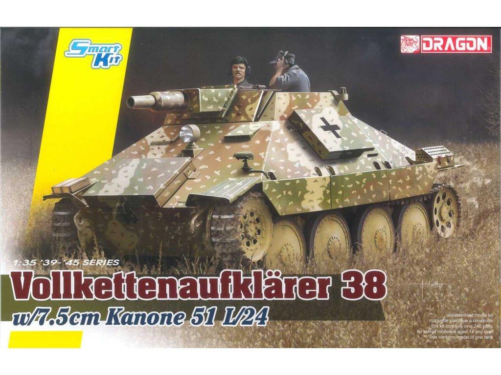 2615 model kit tank dragon 6815 vollkettenauf 38 w 7 5cm kanone 51 l 24 1 35