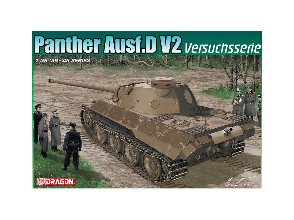 2627 model kit tank dragon 6830 panther ausf d v2 versuchsserie smart kit 1 35