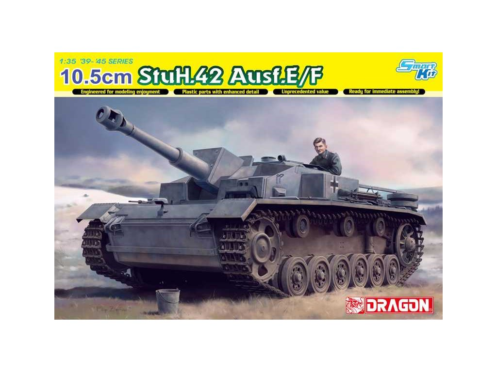 2633 modelkit tank dragon 6834 10 5cm stuh 42 ausf e f 1 35