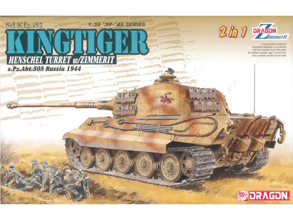 2648 model kit tank dragon 6840 sd kfz 182 kingtiger 1 35