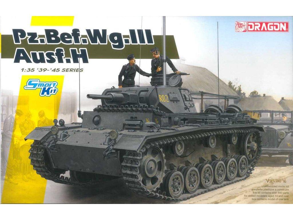 2654 modelkit tank dragon 6844 pz bef wg iii ausf h samrt kit 1 35