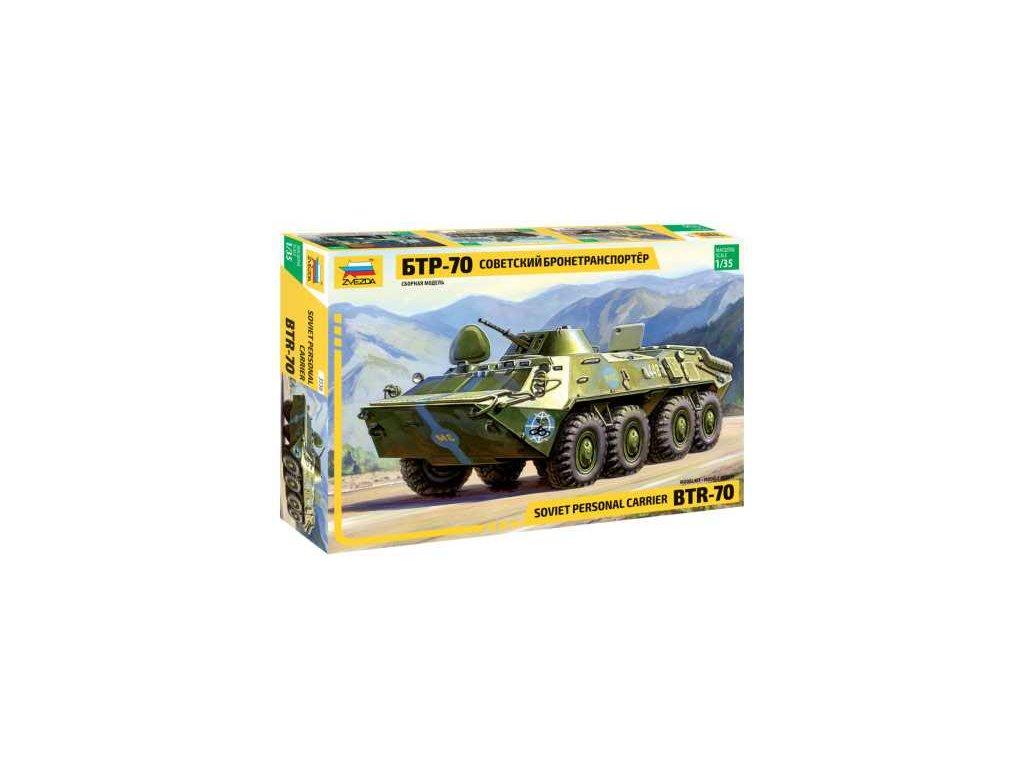 266 model kit military zvezda 3556 btr 70 soviet apc re release 1 35