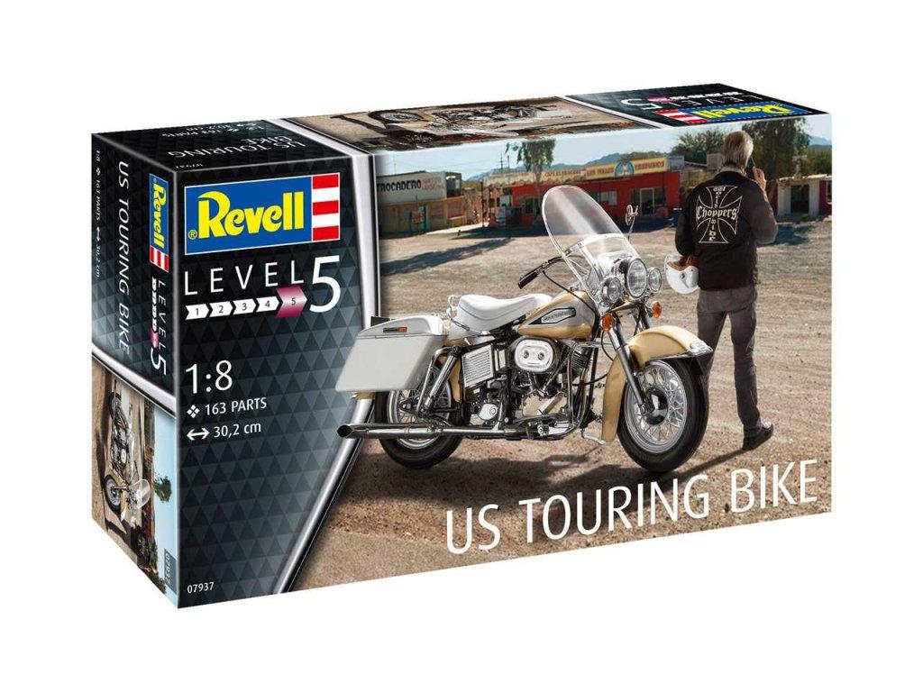 2669 plastovy model motorka revell 07937 us touring bike 1 8