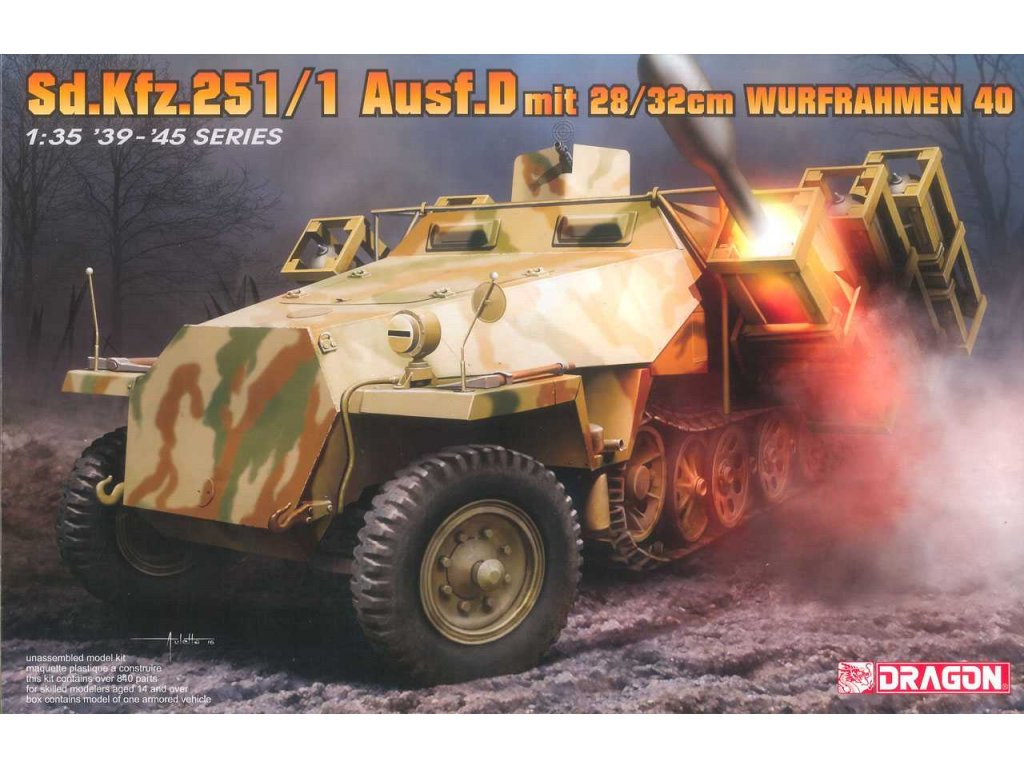 2678 model kit military dragon 6861 sd kfz 251 1 ausf d with 28 32cm 1 35