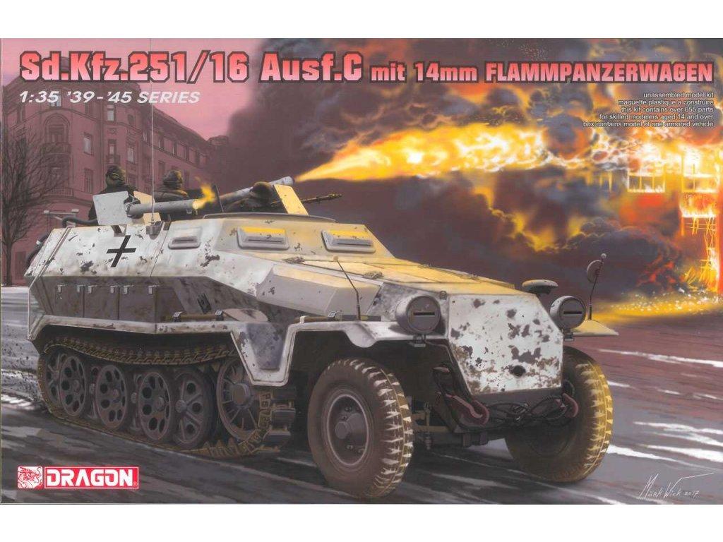 2681 model kit tank dragon 6864 sd kfz 251 16 ausf c flammpanzerwagen 1 35