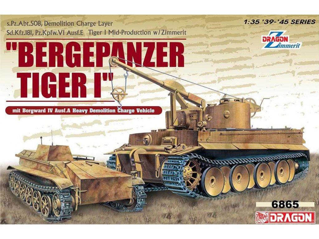 2684 model kit military dragon 6865 bergepanzer tiger i borgward iv ausf a 1 35