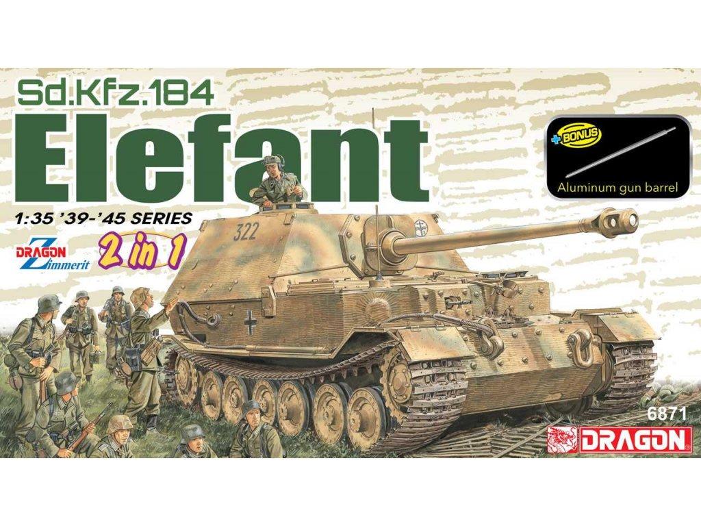 2693 model kit tank dragon 6871 sd kfz 184 elefant 2 in 1 1 35