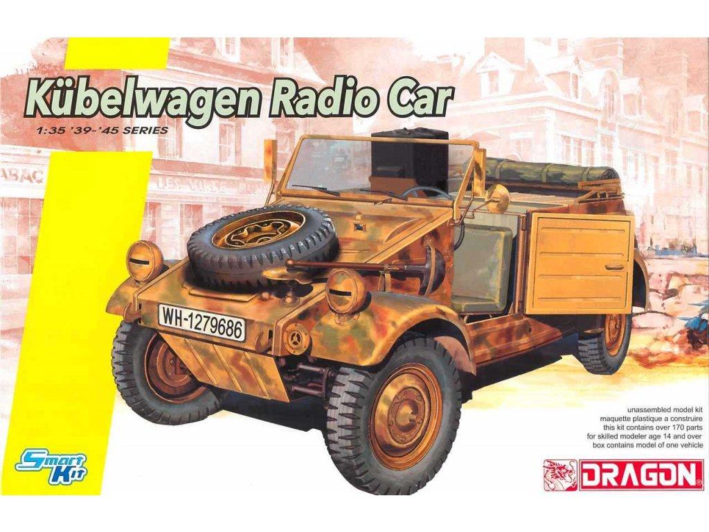 2708 model kit military dragon 6886 kubelwagen radio car 1 35