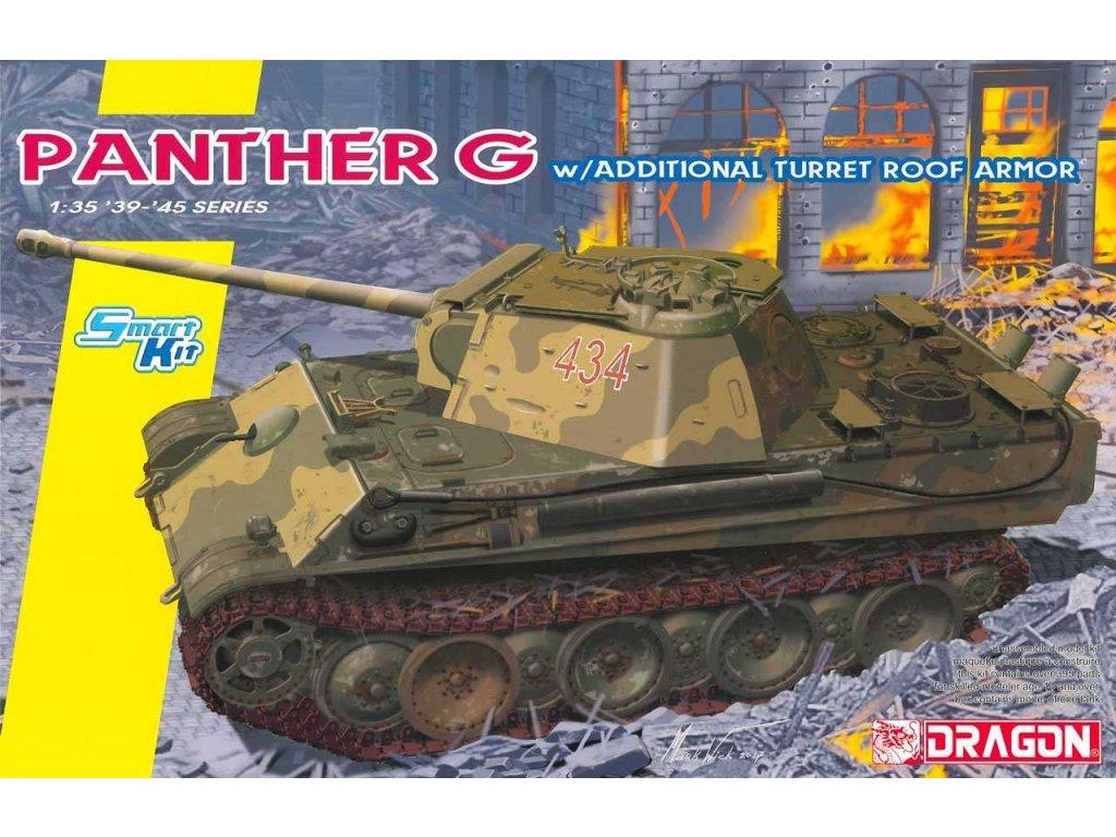 2720 model kit tank dragon 6897 panther ausf g late prod w anti airc armor 1 35
