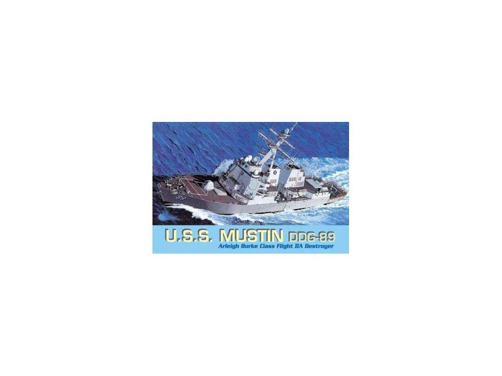2756 model kit lod dragon 7044 u s s mustin ddg 89 1 700