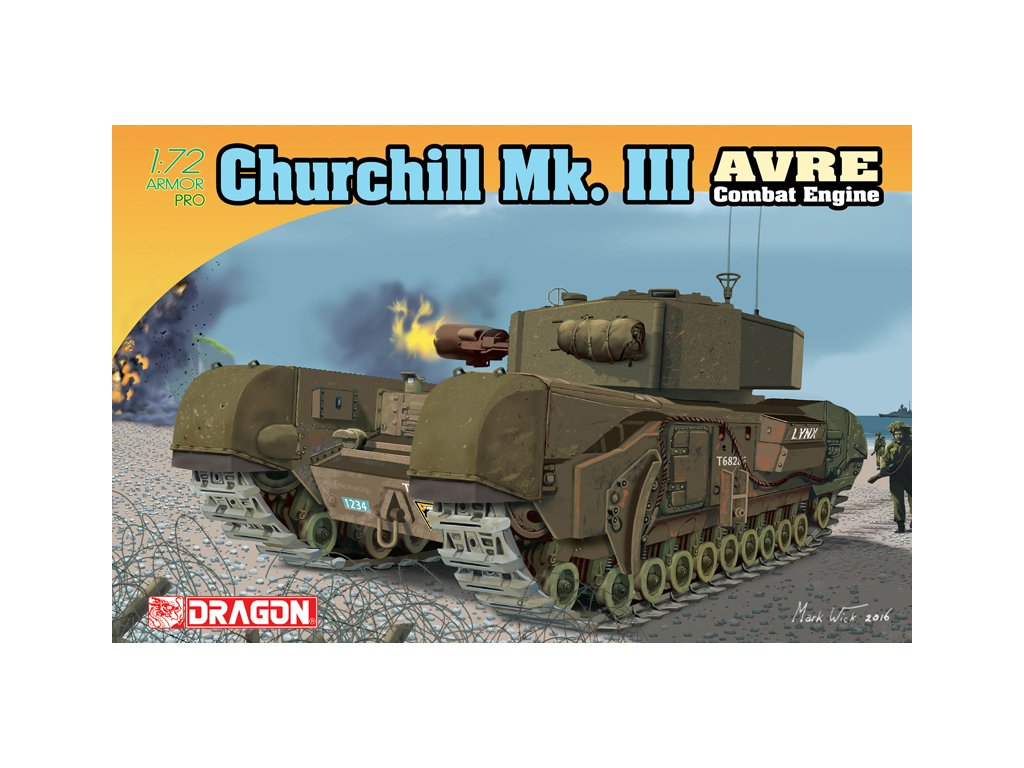 2786 model kit tank dragon 7327 churchill mk iii avre 1 72