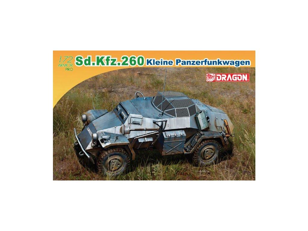2804 model kit military dragon 7446 sd kfz 260 kleiner panzerfunkwagen 1 72