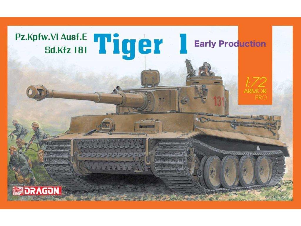 2807 model kit tank dragon 7482 sd kfz tiger i early production 1 72