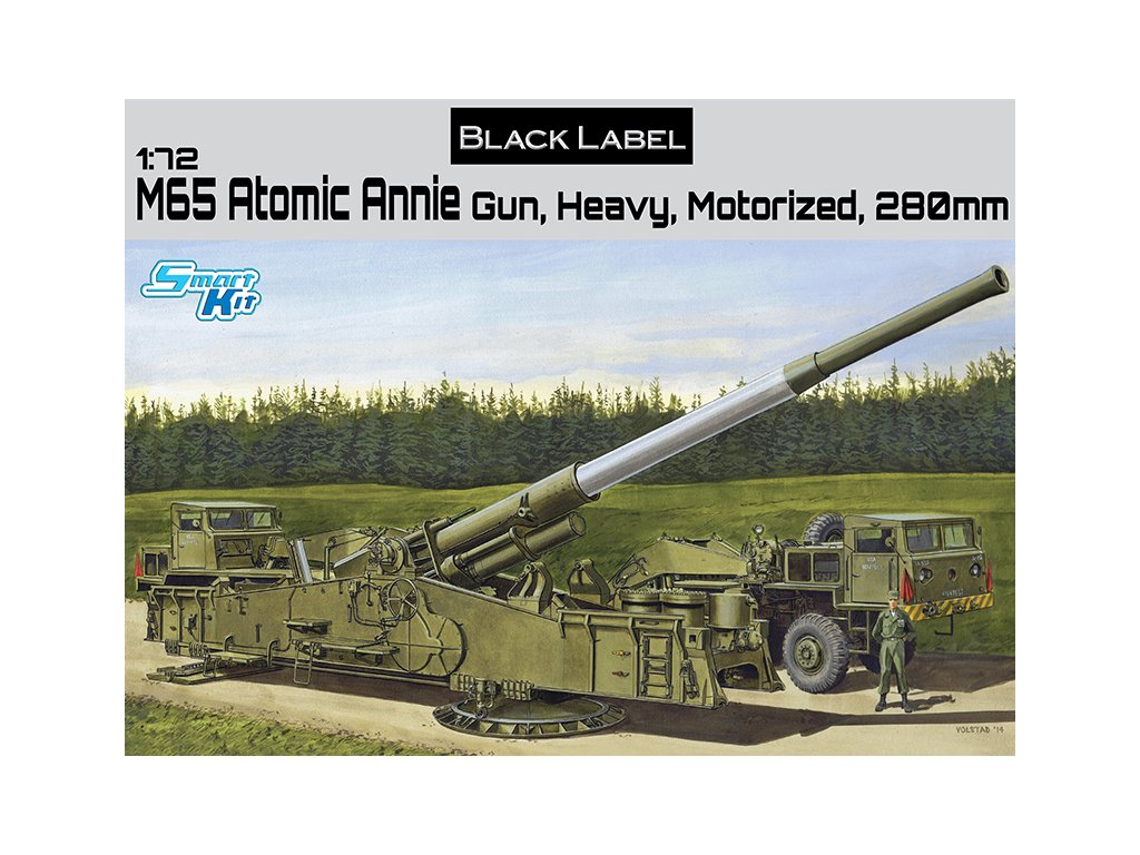 2813 model kit military dragon 7484 m65 atomic annie gun heavy 1 72