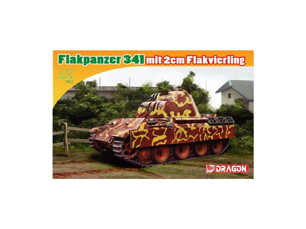 2816 model kit tank dragon 7487 flakpanzer 341 mit 2cm flakvierling 1 72