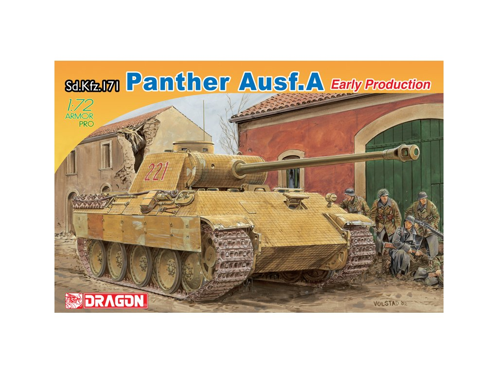 2825 model kit tank dragon 7499 sd kfz 171 panther ausf a early production 1 72