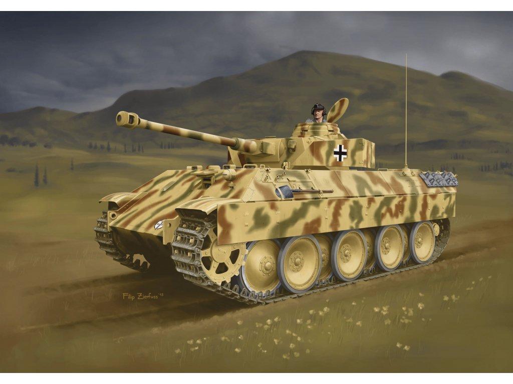 2831 model kit tank dragon 7508 berge panther mit aufgesetztem pz kpfw iv 1 72