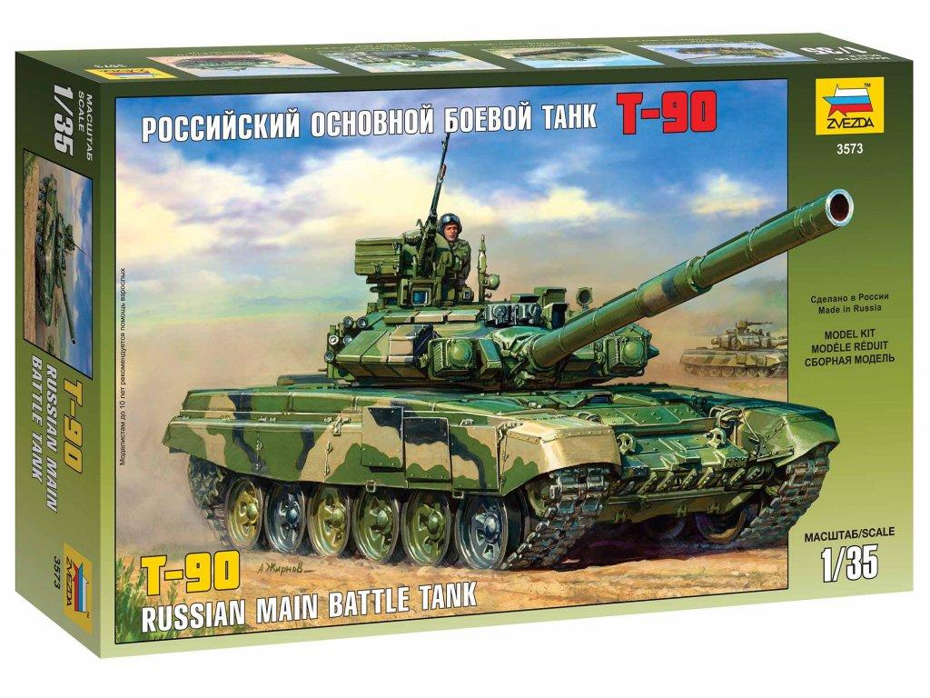 284 model kit tank zvezda 3573 t 90 russian mbt 1 35