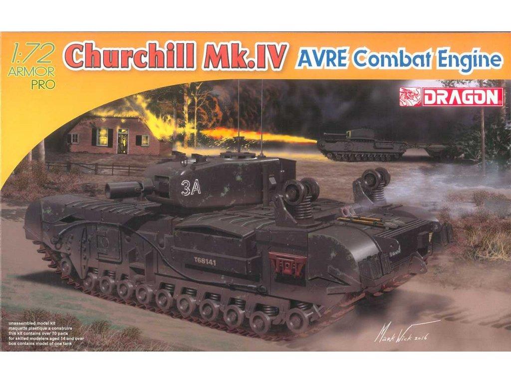 2846 model kit tank dragon 7521 churchill mk iv avre combat engine 1 72