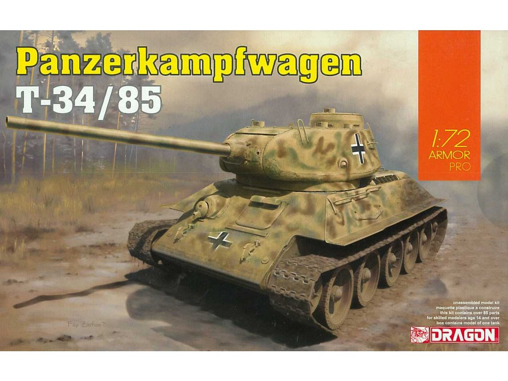 2879 model kit tank dragon 7564 panzerkampfwagen t 34 85 1 72