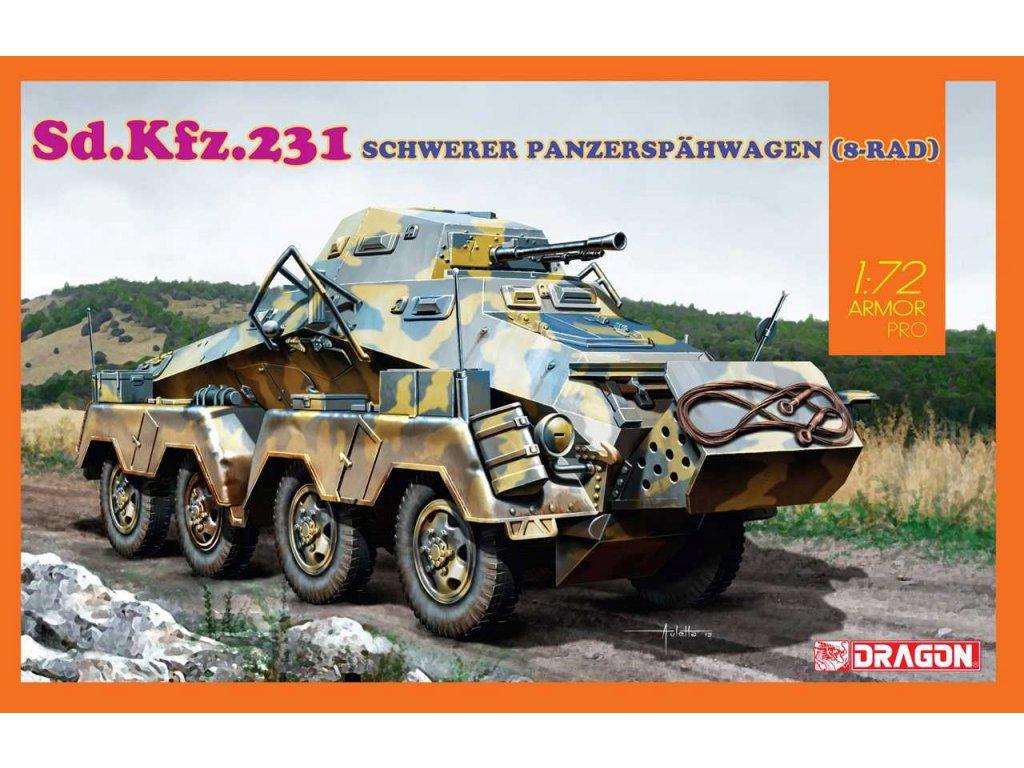2897 model kit tank dragon 7577 sd kfz 231 schwerer panzerspahwagen 8 rad 1 72