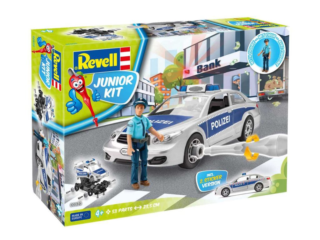 2945 junior kit auto 00820 police car with figure 1 20