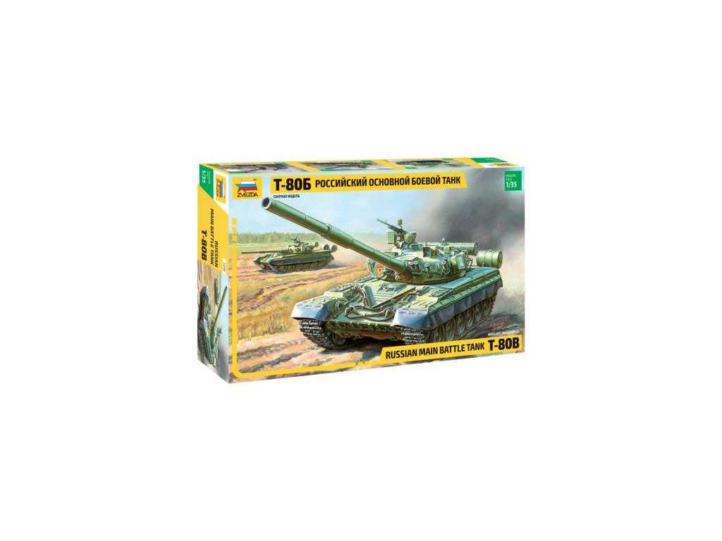 302 model kit tank zvezda 3590 t 80b russian mbt re release 1 35