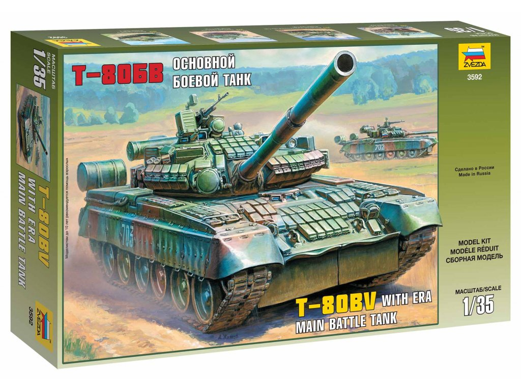 305 model kit tank zvezda 3592 russian main battle tank t 80bv 1 35
