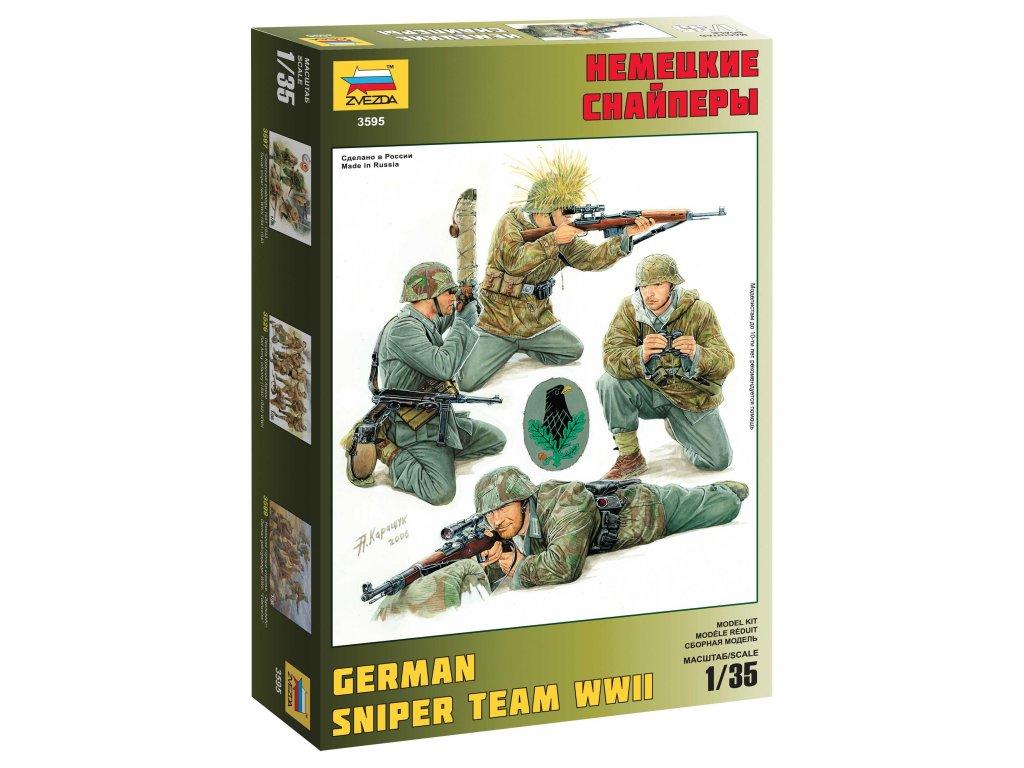308 model kit figurky zvezda 3595 german sniper team 1 35