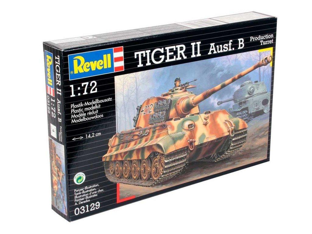 3083 plastovy model military revell 03129 tiger ii ausf b 1 72