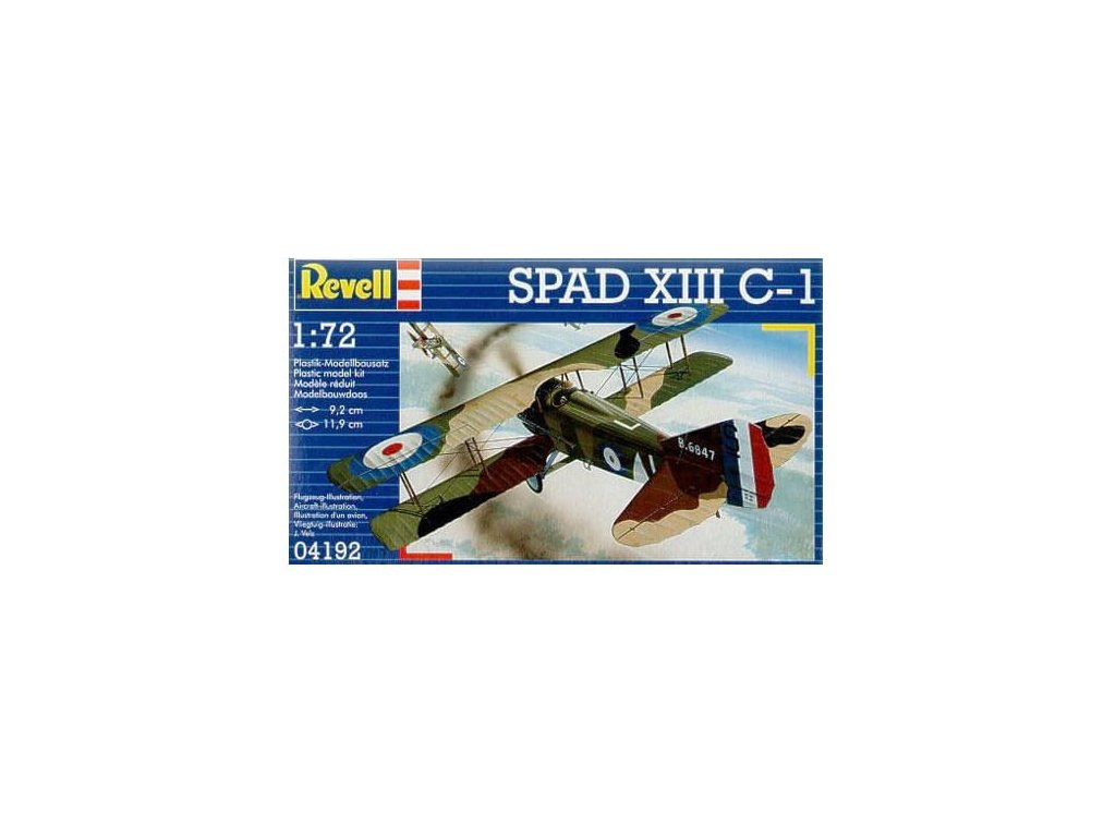 3089 plastovy model lietadlo revell 04192 spad xiii c 1 1 72