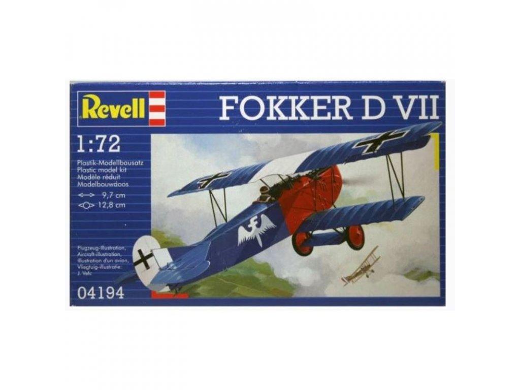 3092 plastovy model lietadlo revell 04194 fokker d vii 1 72